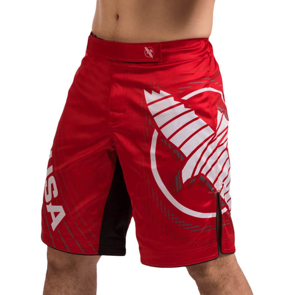 HAYABUSA CHIKARA 4 FIGHT SHORTS RED