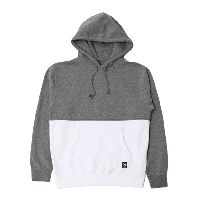 50/50 PULLOVER-HEATHER GREY/WHITE