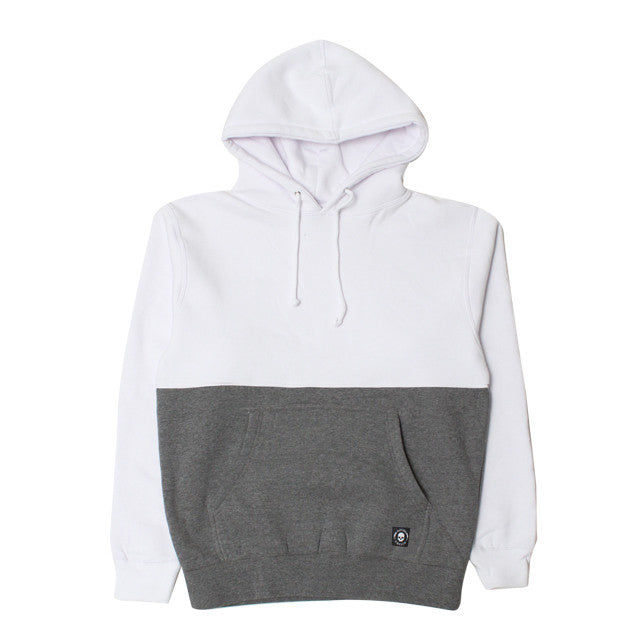 50/50 PULLOVER-WHITE/HEATHER GREY