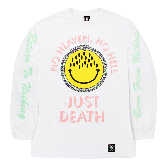 JUST DEATH L/S-WHITE