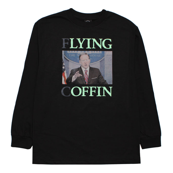 LYING OFFIN L/S-BLACK