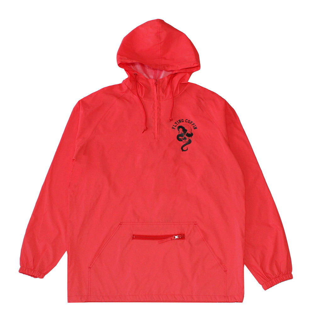 JUST DEATH ANORAK-RED REFLECTIVE