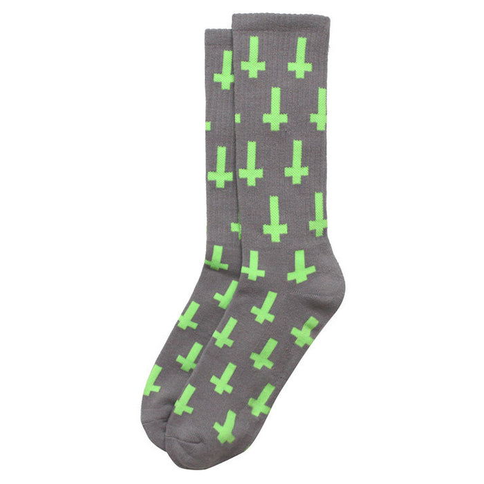 inversion socks-grey/neon green