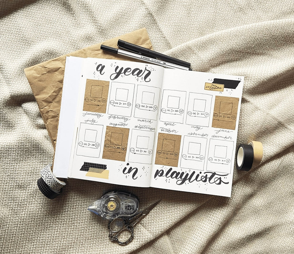 takkti bullet journaling 101 the yearly setup a year in playlists