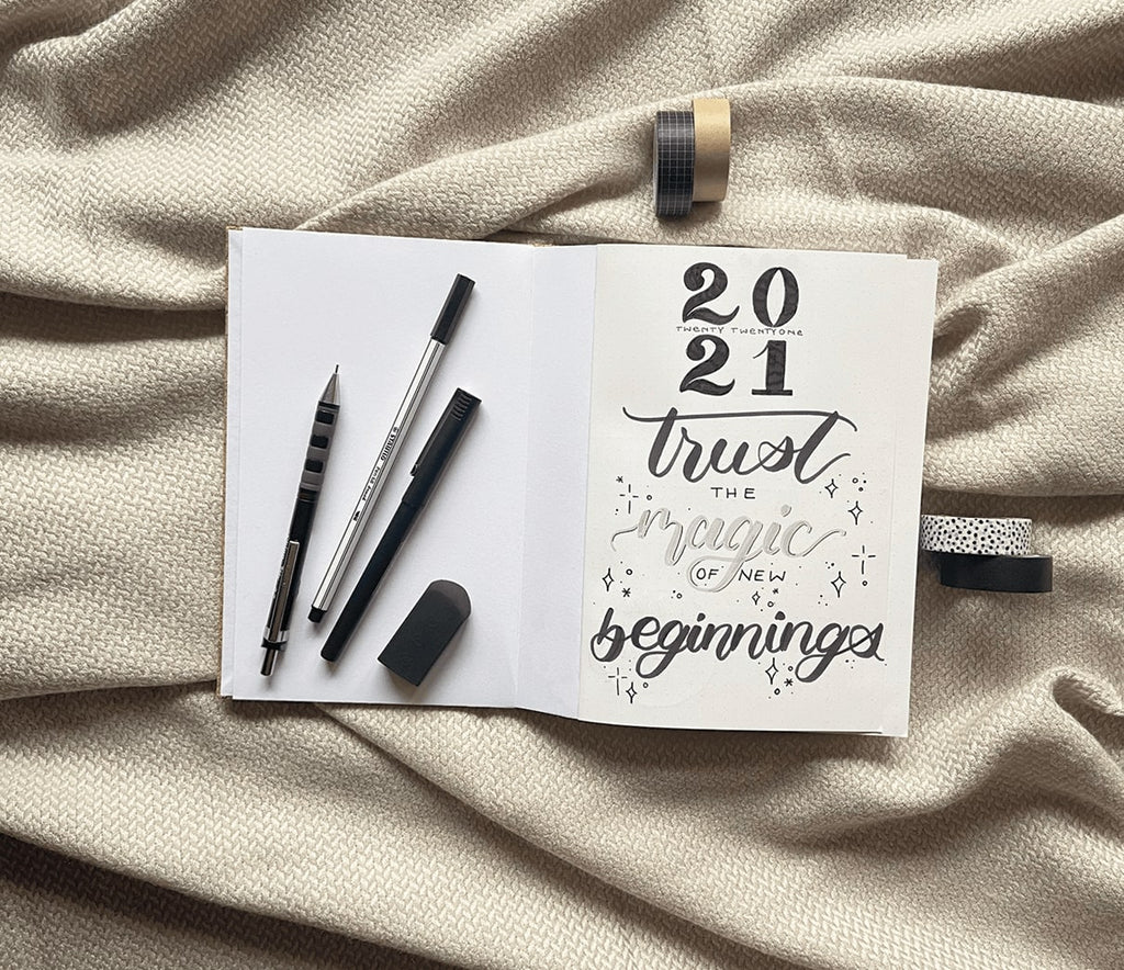 takkti bullet journaling 101 the yearly setup 2021 cover page