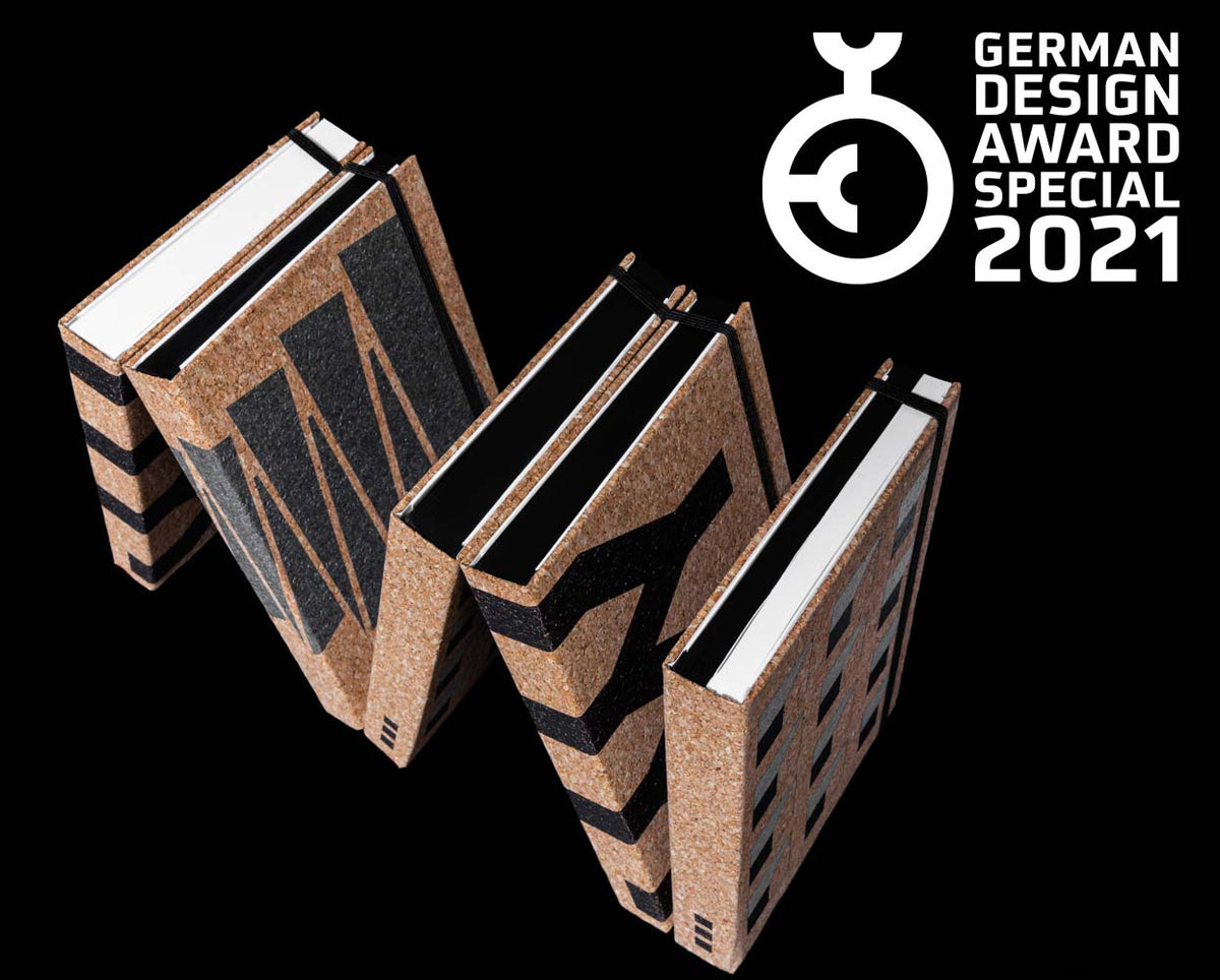 german design award winning cork notebook collection takkti