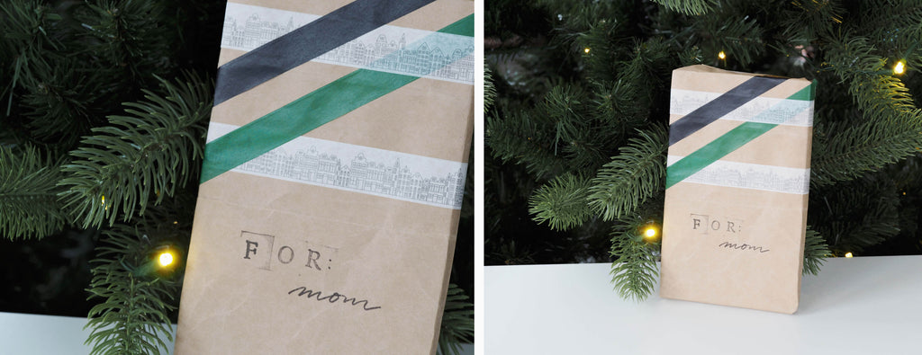 4 ideas for eco-friendly gift wrapping made out of old paper bags, washi tape decoration