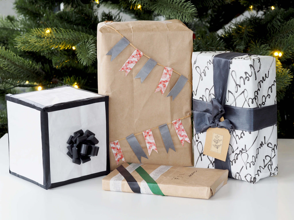 4 ideas for eco-friendly gift wrapping made out of old paper bags
