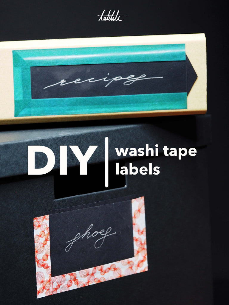 washi tape labels diy folder map boxes