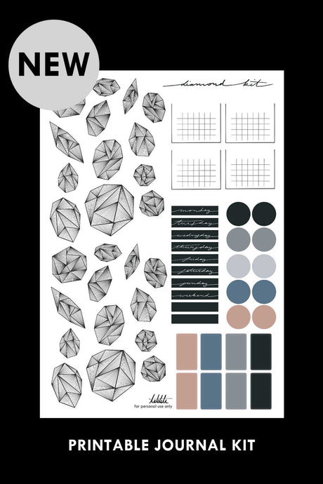 diamond printable kit PDF - takkti