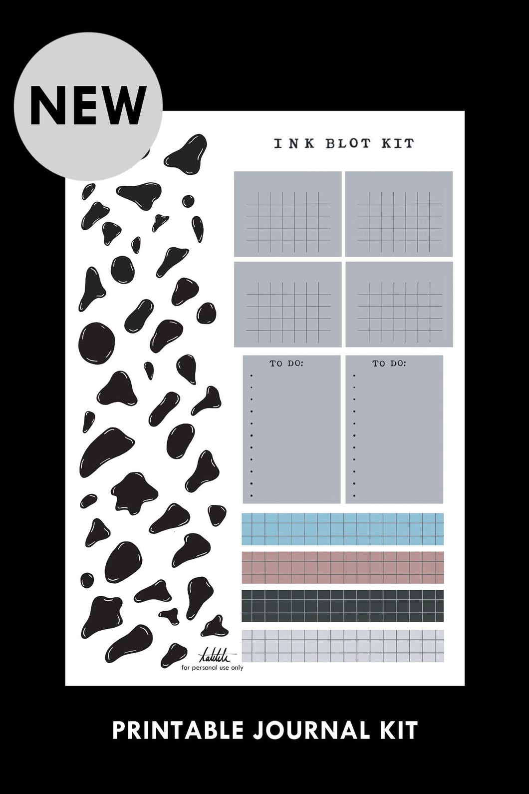 ink blot printable kit PDF - takkti