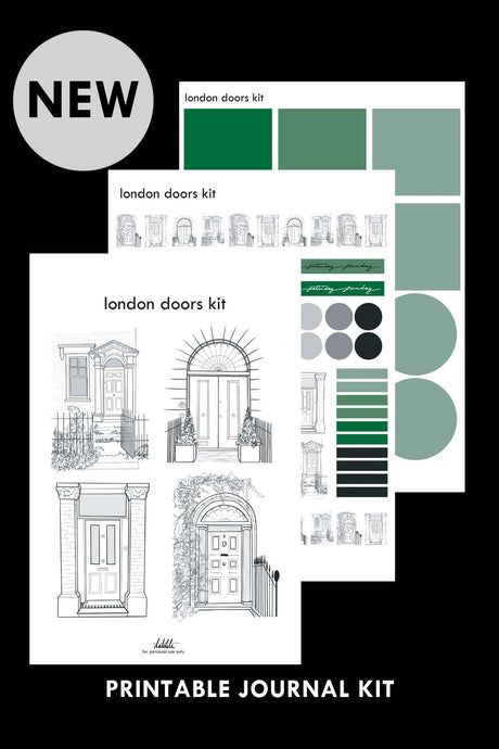 london doors printable kit PDF - takkti