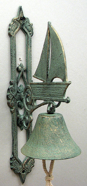 Cast Iron Sailboat Bell