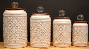 Ceramic 4 piece Canister Set