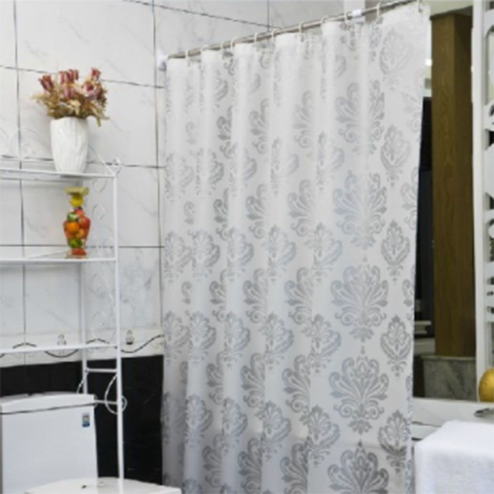 PEVA Shower Curtains Waterproof Bath Shower Curtains Bathroom Curtains with Hooks Home Bathroom Products