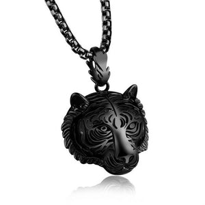 Stainless Steel 60CM Men Pendant Necklace Of Animal Tiger Exterior Men Necklace Tiger pendant necklace dropship #GH35