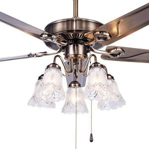 A1 Fan ceiling fan light restaurant living room bedroom minimalist modern iron leaf with LED European leaf fan lamp FS19