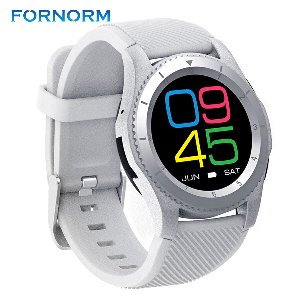 FORNORM G8 Smart Watch Phone MTK2502 Bluetooth 4.0 SIM Card Smartwatch Call Message Reminder Heart Rate Monitor For Android IOS