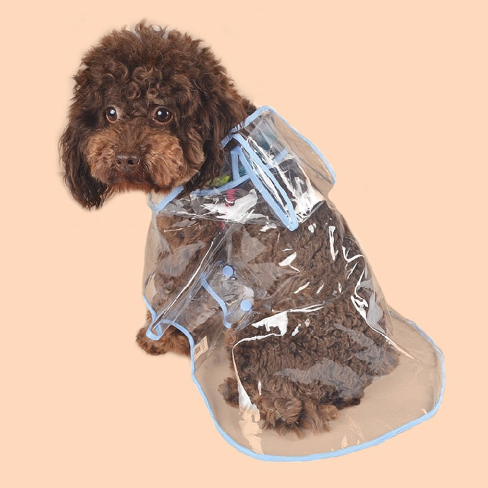 EVC Transparent Capes Pet Dog Rain Coat Clothes Dogs Waterproof Cloak Puppy Dresss Jacket for Small Dogs Outdoor Raingear