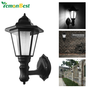 LED Wall Lamp Waterproof Solar Hexagonal Light Warm White Cool White Auto ON/OFF At Night for Outdoor Landscape Garden Fence