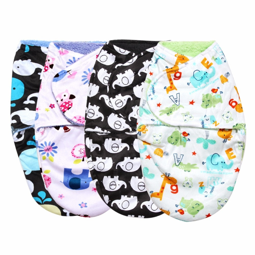 Envelope for Newborns Baby Swaddle Wrap Double Layer Short Plush Sleeping Bag Envelope Newborn Baby Blanket