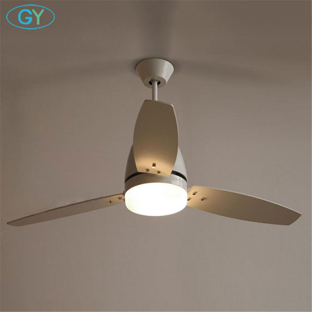 Designer Light Loft white LED Ceiling Fan Light 25W European American Restaurant Ceiling Remote Control Fan lamp Warehouse light