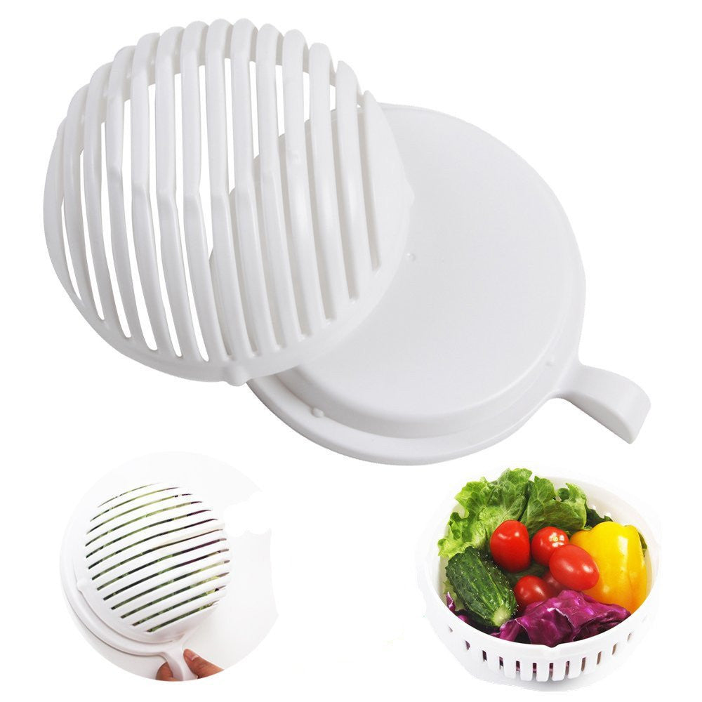 Salad Cutter Bowl 60 Seconds Easy Salad Maker Fruit Vegetable Kitchen Tools Chopper Cutter Quick Kitchen Accessories