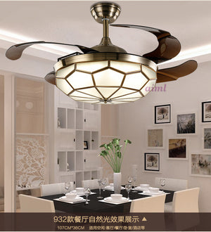 LED 36inch and 42inch 90cm /108cm 24-40W ceiling fan, Mini Style Living Room / Bedroom / Dining Room / Study 110-240v