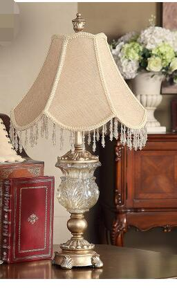 Crystal glass bedside lamp. Palace high hanging cloth