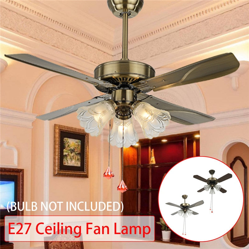 Smuxi Modern Vintage LED Ceiling Fan For Living Room With Light 36/42 Inch Remote Control Cooling Fan Lamp AC110-240V Home Decor