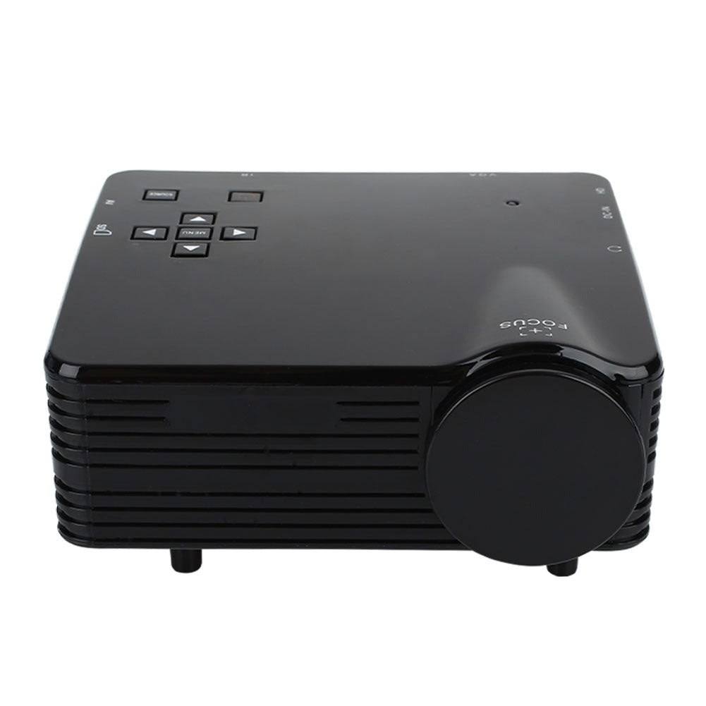Mini Projector Portable Projector Mini Multimedia High Resolution Video Projector LED Projector USB/AV/VGA/HDMI/SD Manual Focus
