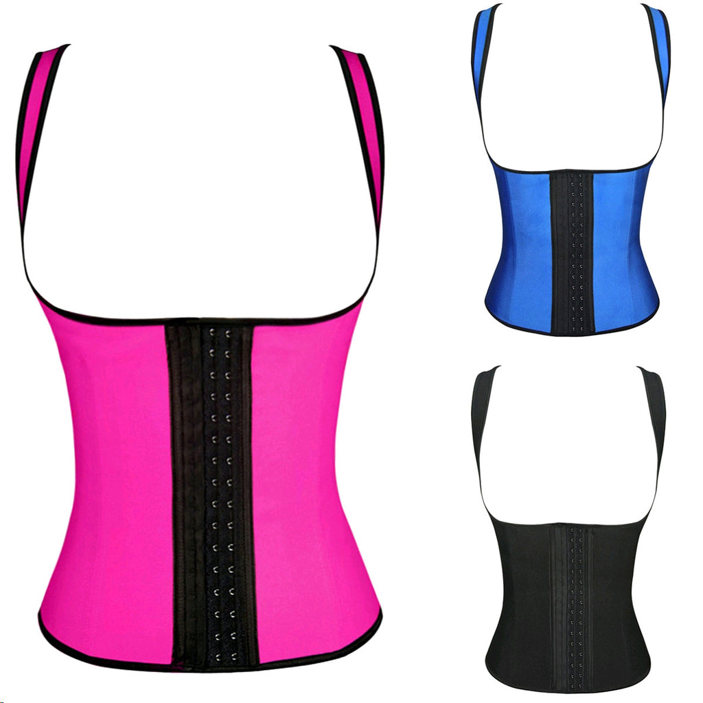 Topmelon Latex Bustier Sexy Underbust Waist Cincher Rubber corsets Body Shape Wear 3 Hook 711