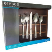 Gibson Geraldine 54 Piece  Flatware Set With a Bamboo Caddy