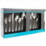 Gibson Home Brantley 102 Piece Service for 12 Flatware Set
