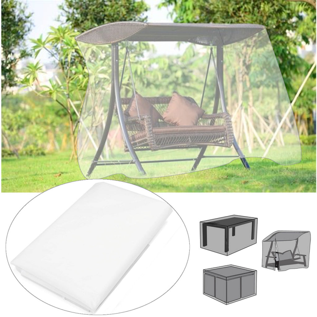 Translucent Patio Garden Outdoor Furniture Cover Rectangular Table Chair Swing