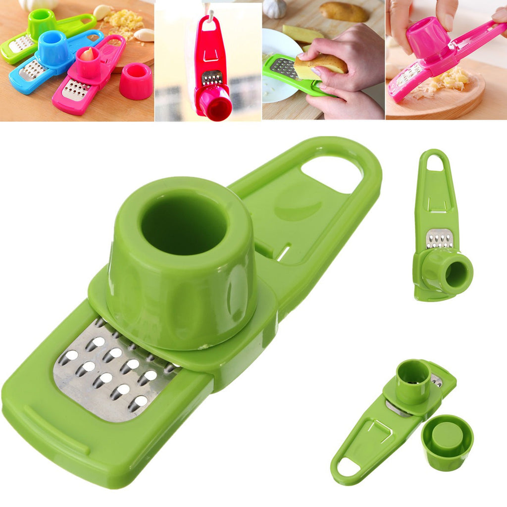 Lazy Garlic Ginger Grinding Grater Peeler Slicer Cutter Squeezer Kitchen Tool
