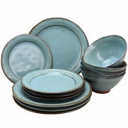 Gibson Elite Terranea 12 Piece Dinnerware Set in Teal