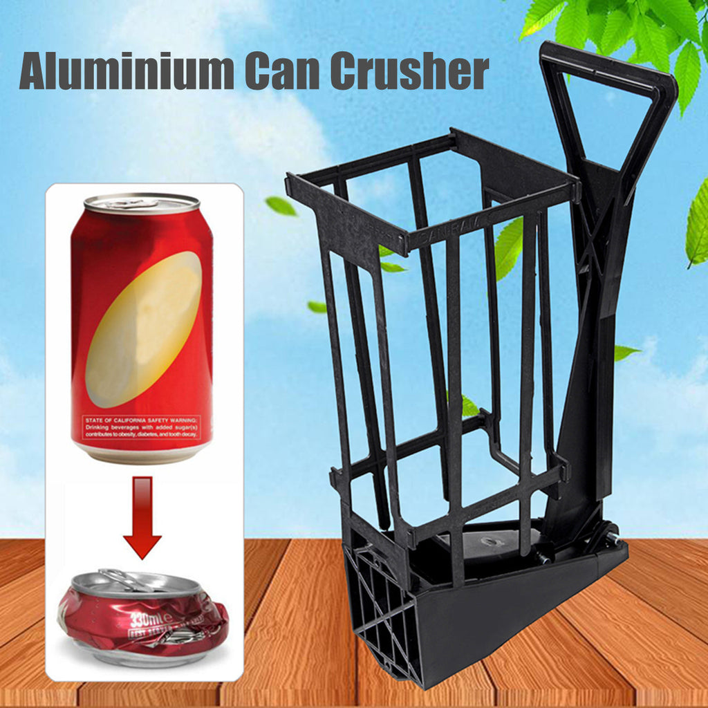 12oz Heavy Duty Aluminium Can Crusher Bottle Opener Wall Mount Recycling Tool
