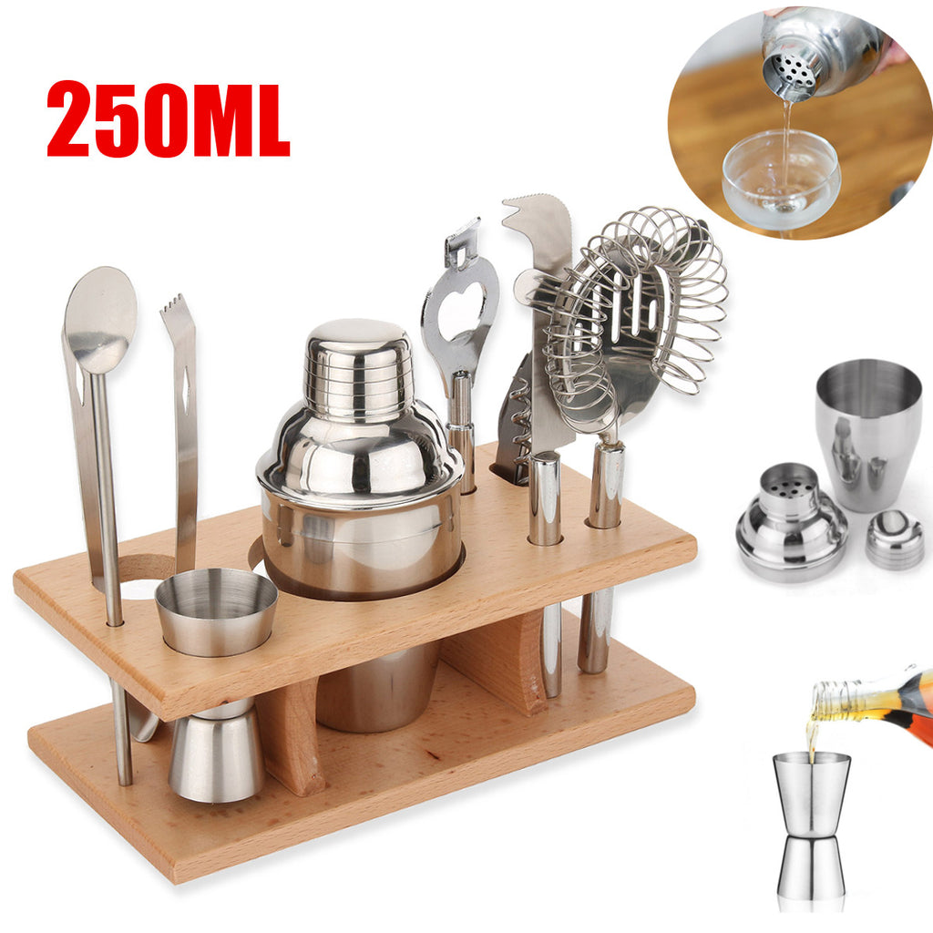 Stainless Steel Cocktail Shaker Mixer Drink Bartender Martini Tools Bar Set Kit