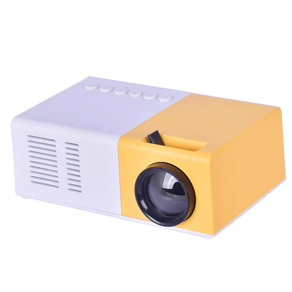 Multimedia Projector LED Projector Mini USB/AV/TF/HDMI 1000:1 Home Theater TV Video Projector Playback School