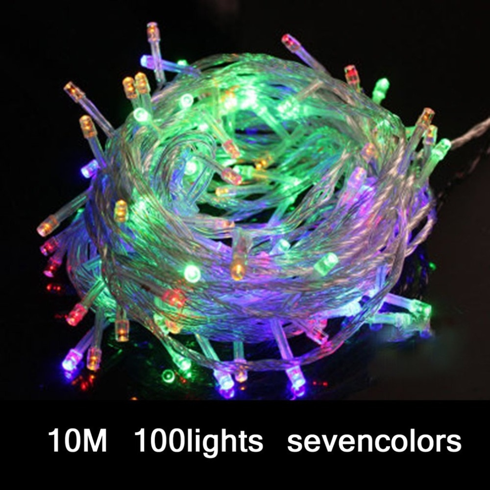 10M Waterproof 100 LEDs String Lights Colorful LED Fairy Christmas Wedding Garden Twinkle Light Party Decoration Glow Lights