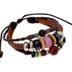 Leather Bracelet Alloy Bracelet Beaded bracelet Bangle Fashion Jewelry for men and women