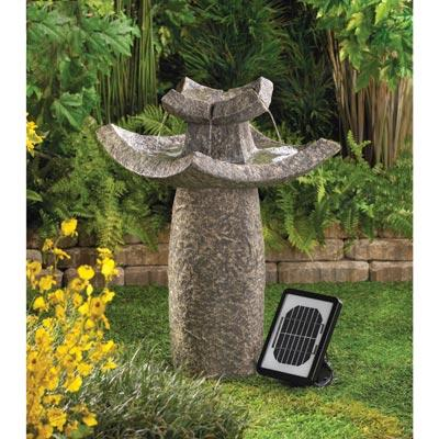 Temple Solar Water Fountain