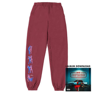 Defender - Limited Burgundy Sweatpant