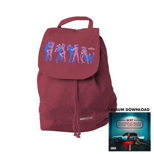 Defender - Burgundy Back Pack + In My Defense (Digital Album)