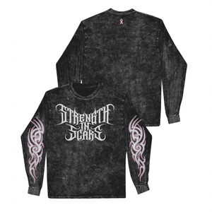Strength In Scars- Black Mineral Long-sleeve