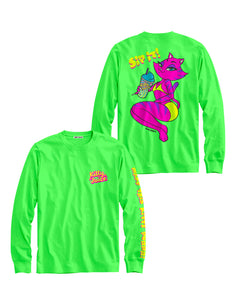 Neon Green Sip It Long Sleeve  *PREORDER*