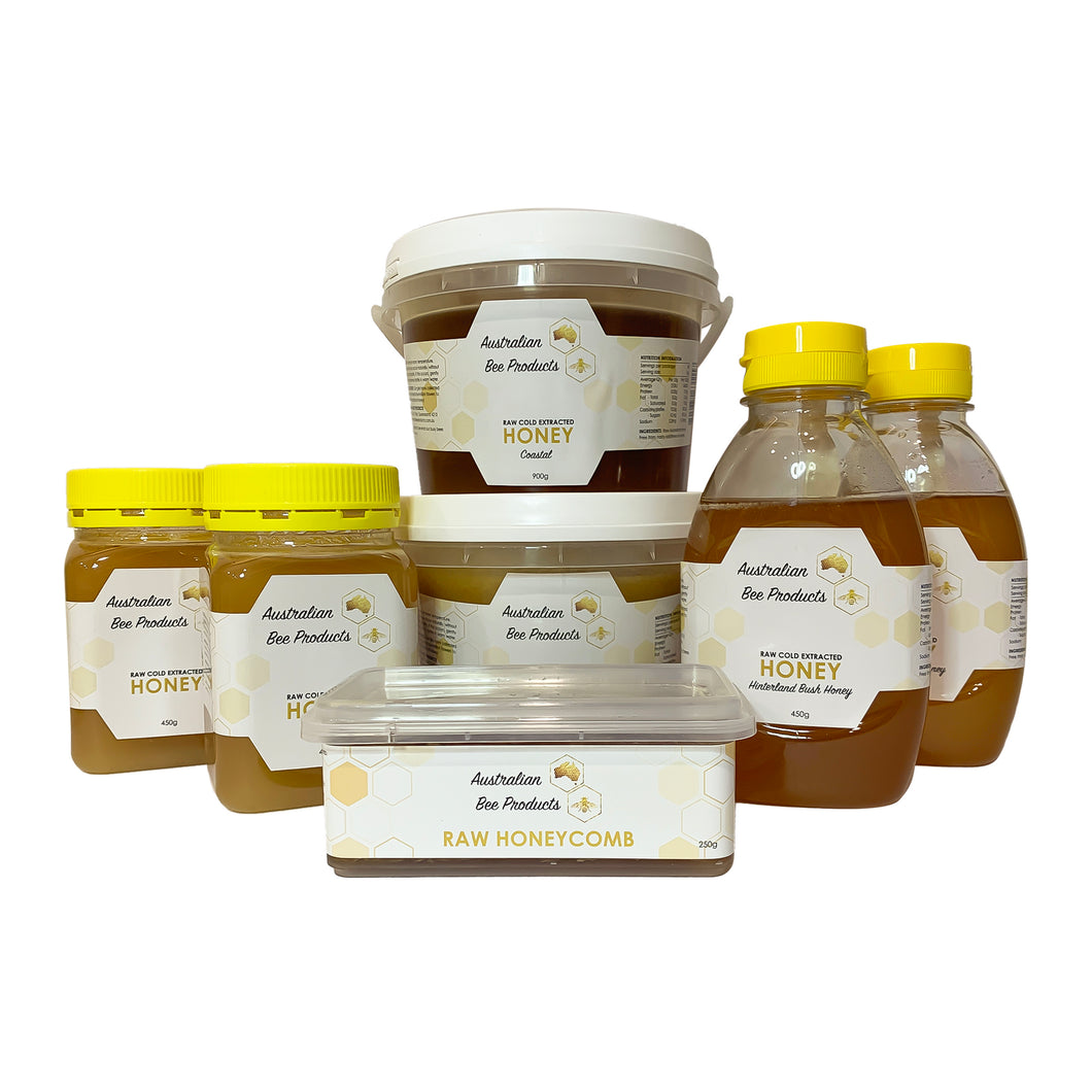 Raw Honey + Honeycomb Bulk Flavours Pack
