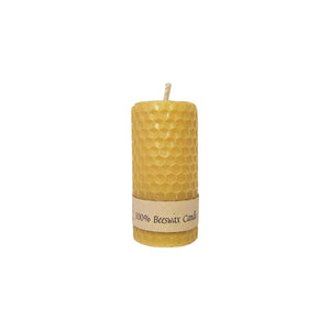 Rolled Short Beeswax Candle