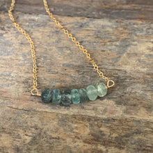 Ava Necklace - Moss Aquamarine